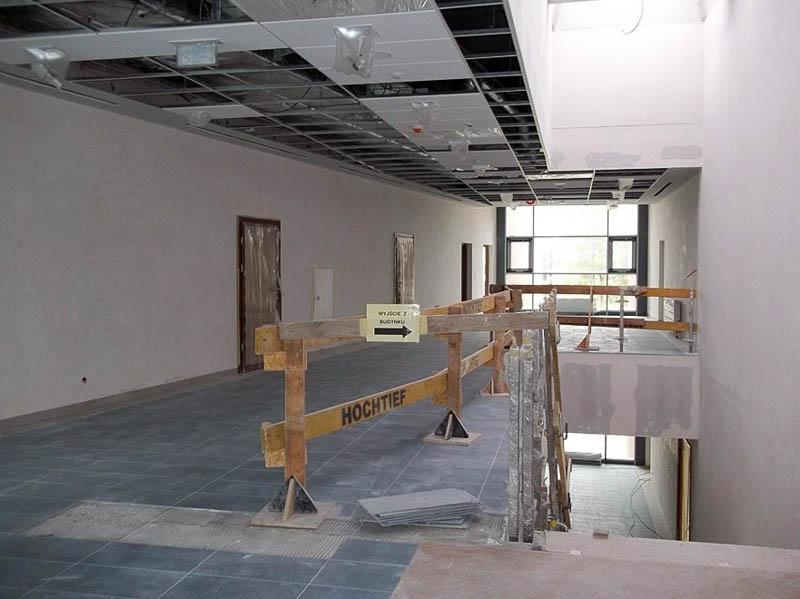 Segment A, II piętro – jeden z holów 'bocznych' przy salach wykładowych