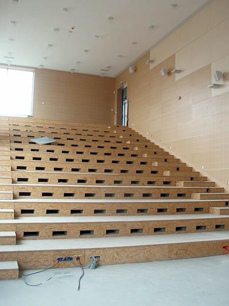Segment A – jedna z dwóch 'bocznych' sal wykładowych