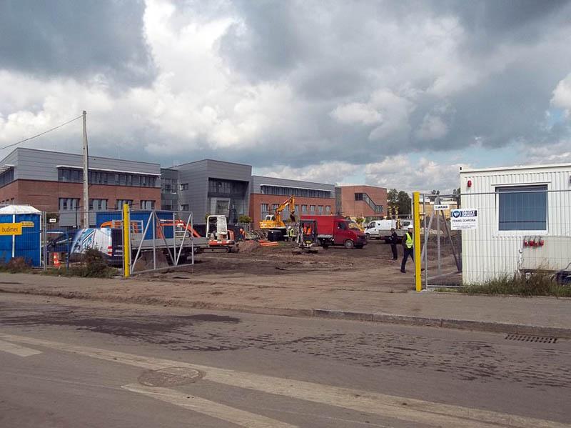 Pierwsze prace budowlane związane z realizacją budynku Wydziału Chemii