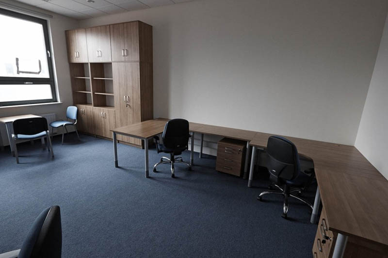 Przykładowy pokój pracy cichej dla doktorantów