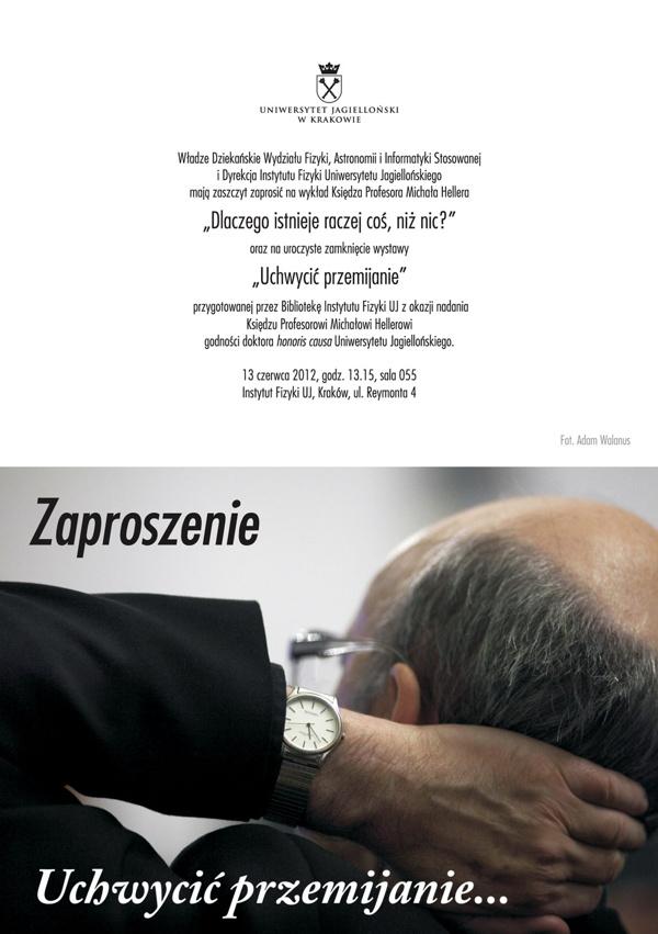Wykład ks. prof. Michała Hellera